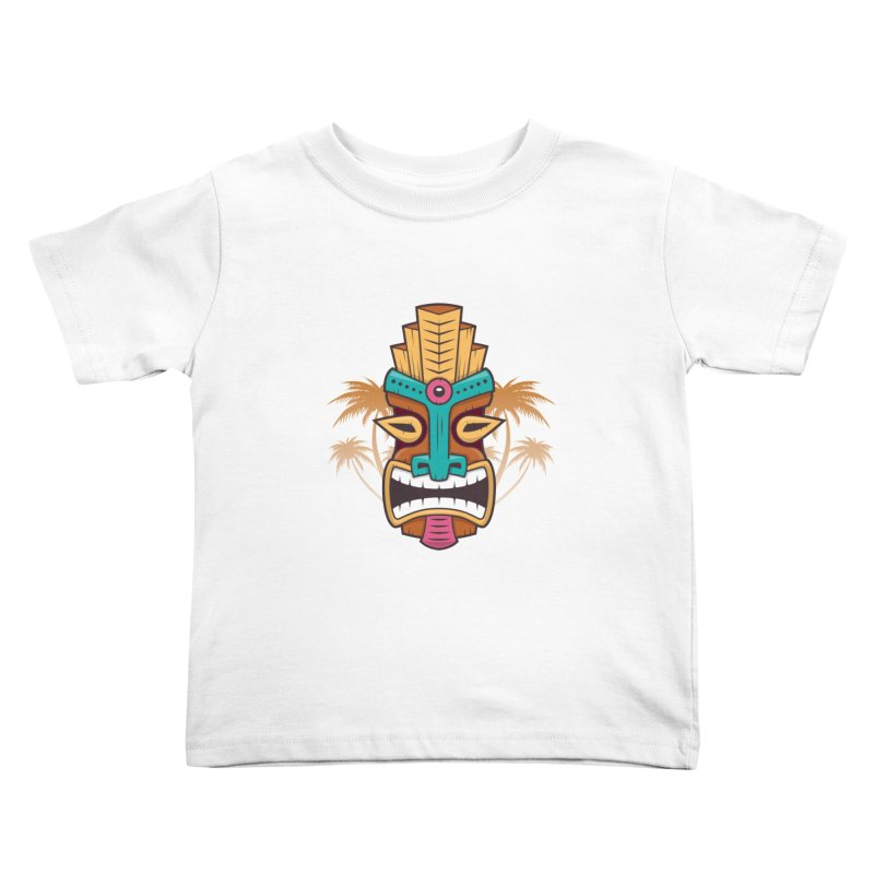 Tiki Mask Kids Toddler T-Shirt by zoljo's Artist Shop