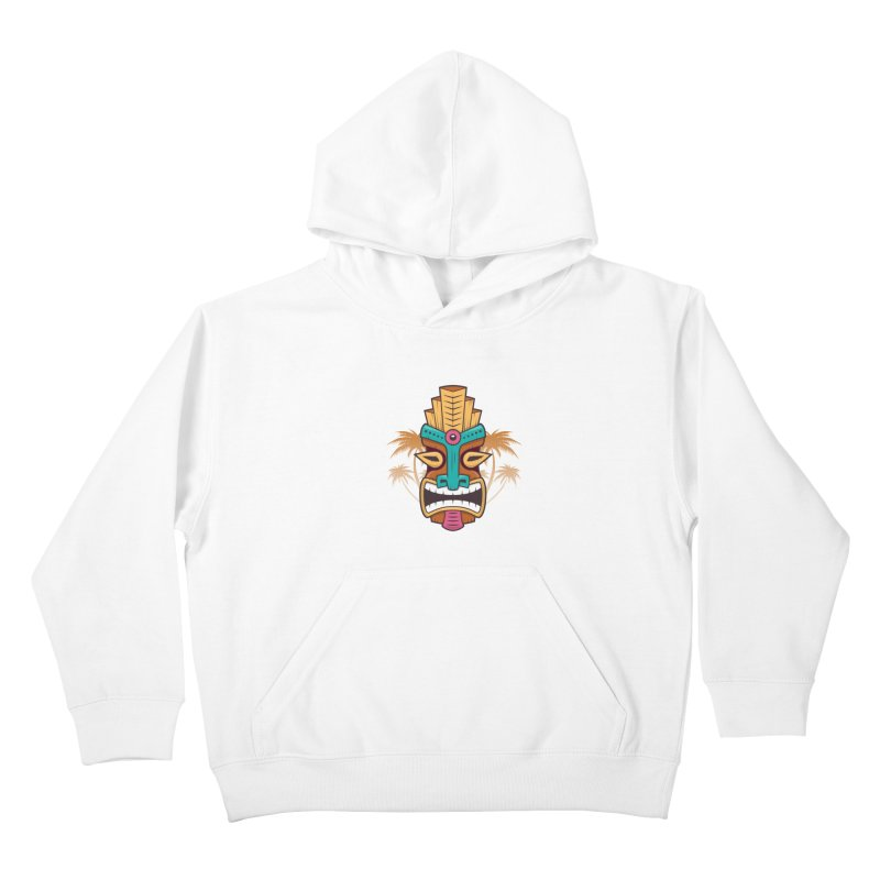Tiki Mask Kids Pullover Hoody by zoljo's Artist Shop