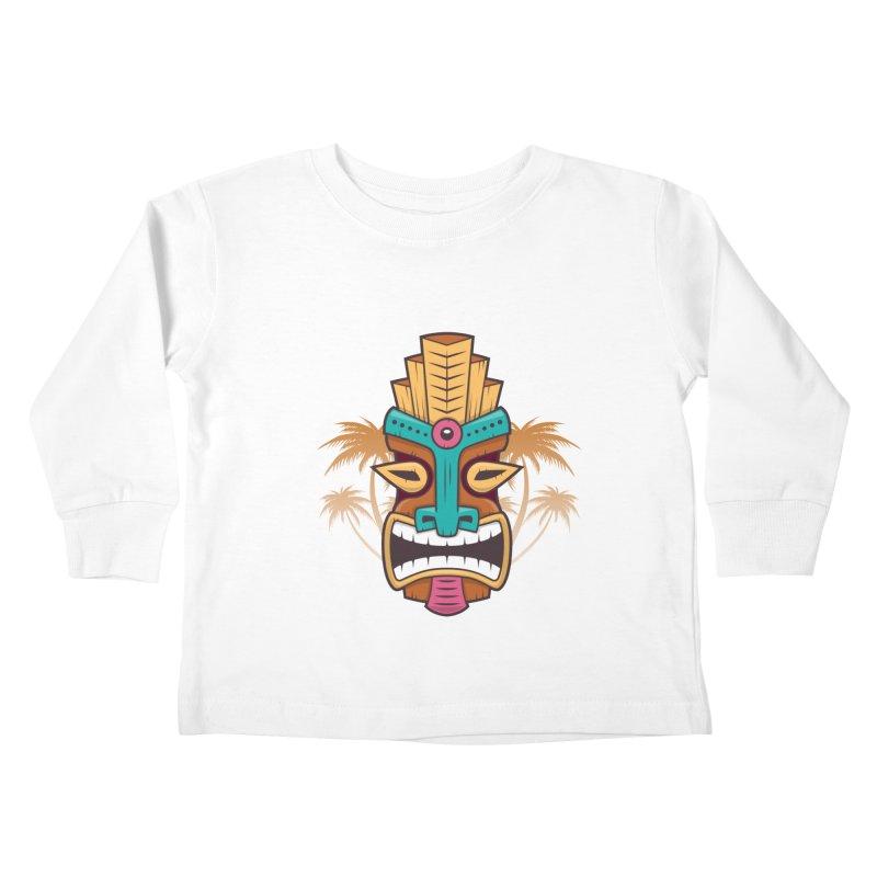 Tiki Mask Kids Toddler Longsleeve T-Shirt by zoljo's Artist Shop