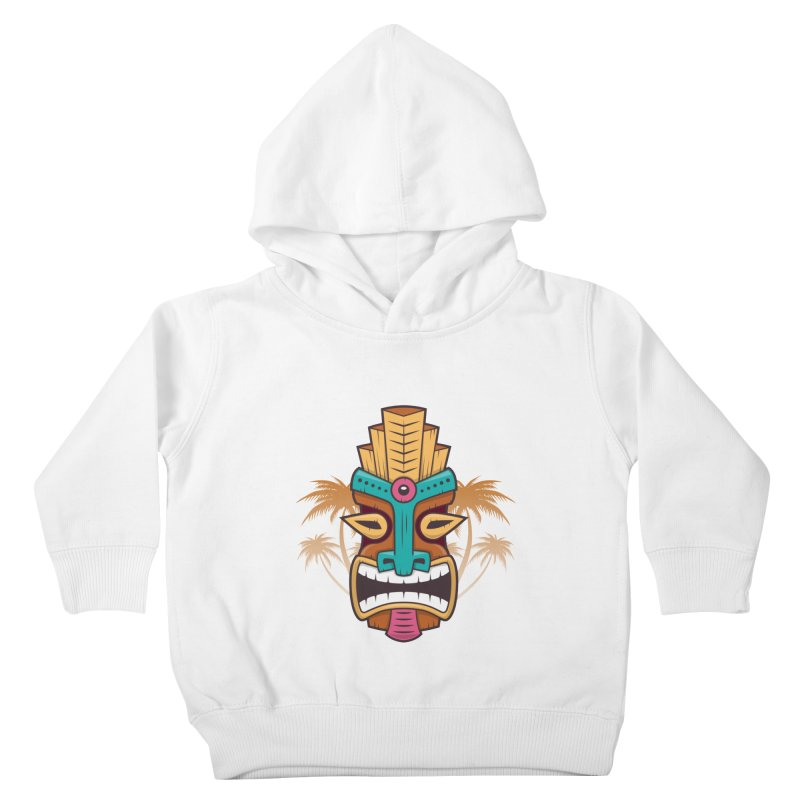 Tiki Mask Kids Toddler Pullover Hoody by zoljo's Artist Shop