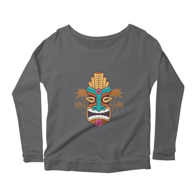 Tiki Mask Women's Longsleeve T-Shirt by zoljo's Artist Shop