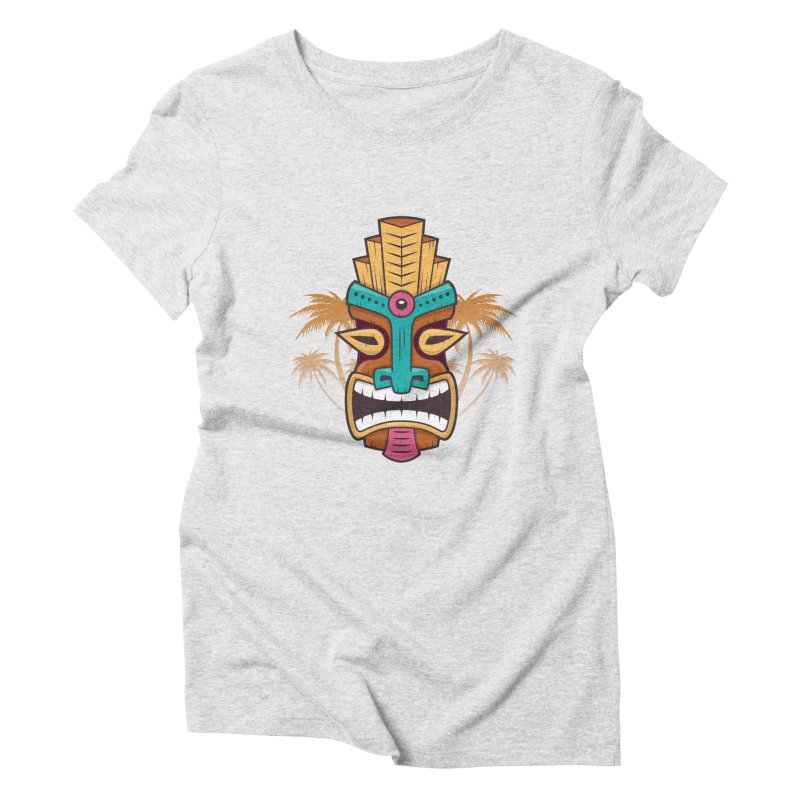 Tiki Mask Women's Triblend T-Shirt by zoljo's Artist Shop
