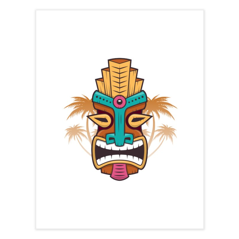 Tiki Mask Home Fine Art Print by zoljo's Artist Shop