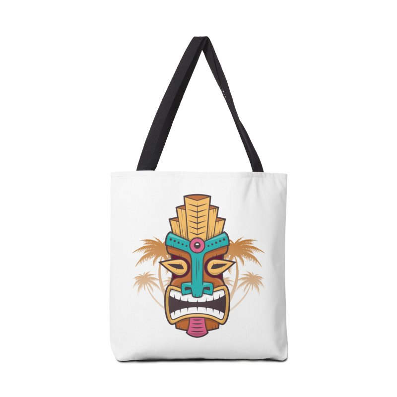 Tiki Mask Accessories Bag by zoljo's Artist Shop