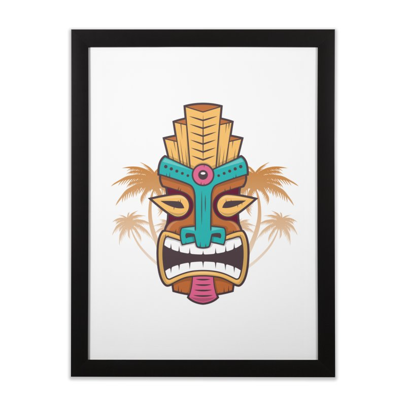Tiki Mask Home Framed Fine Art Print by zoljo's Artist Shop