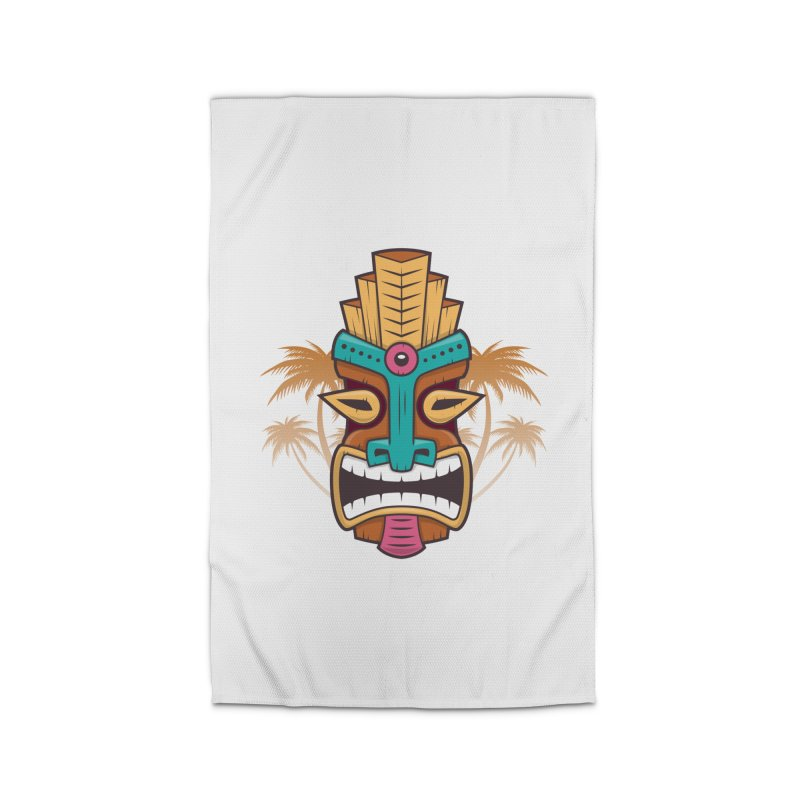 Tiki Mask Home Rug by zoljo's Artist Shop