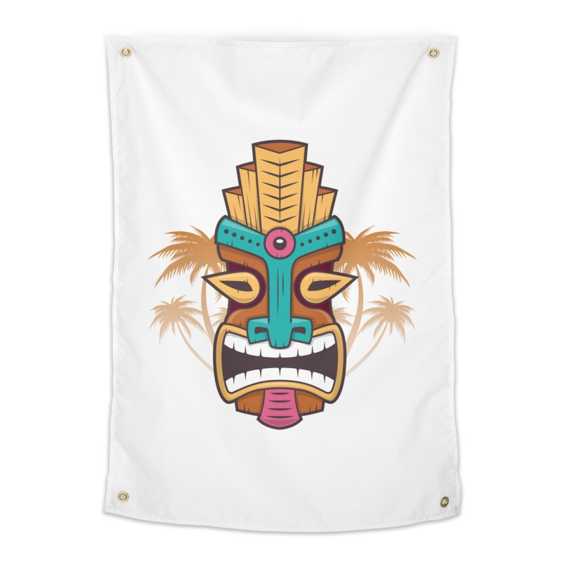Tiki Mask Home Tapestry by zoljo's Artist Shop