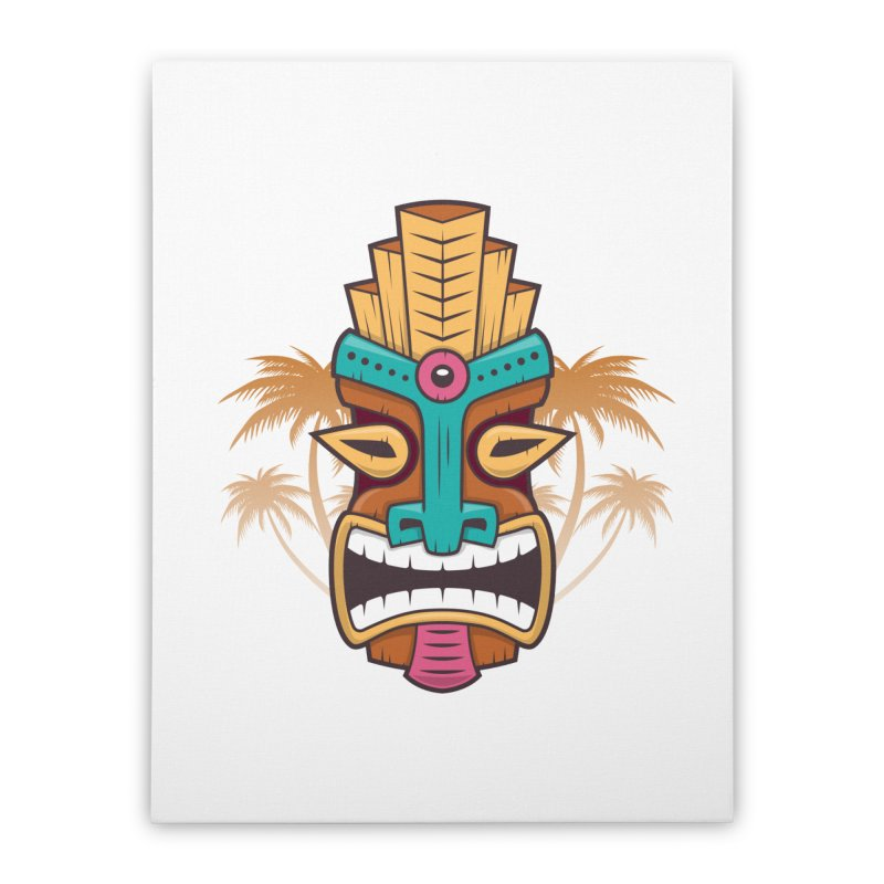 Tiki Mask Home Stretched Canvas by zoljo's Artist Shop