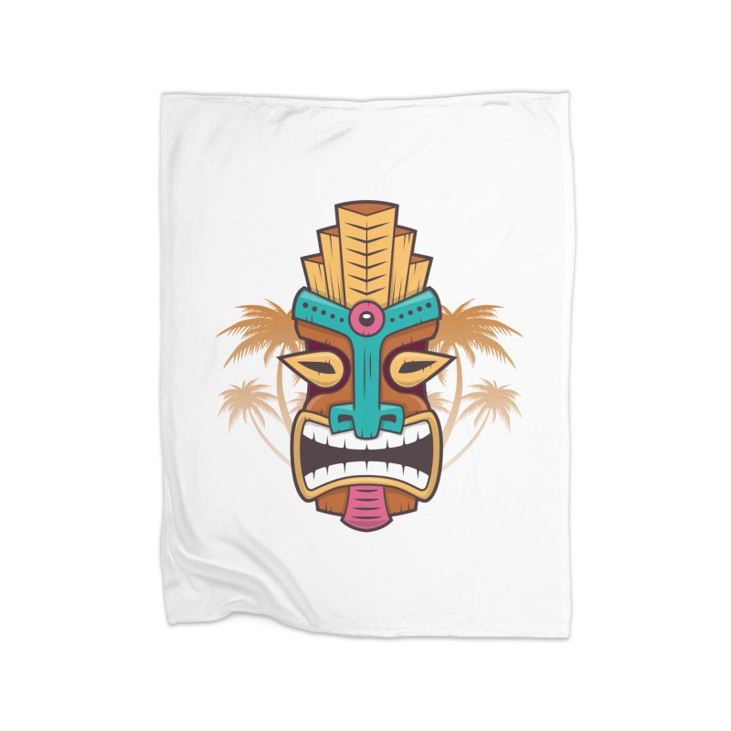 Tiki Mask Home Blanket by zoljo's Artist Shop