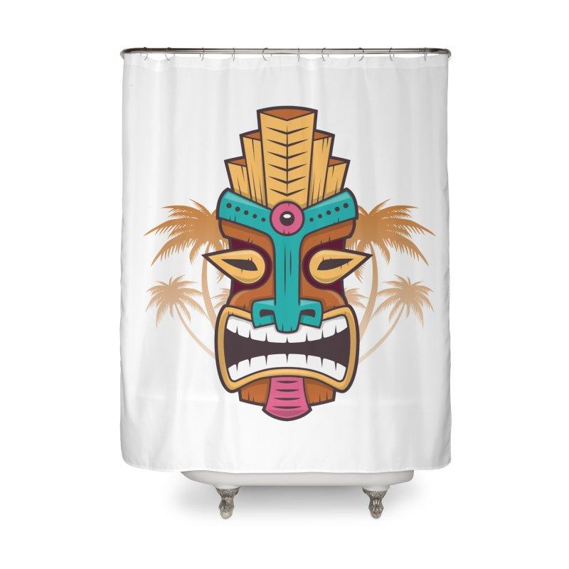 Tiki Mask Home Shower Curtain by zoljo's Artist Shop