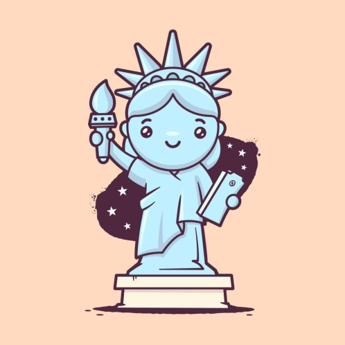 Design for Cute Statue of Liberty