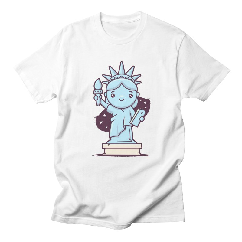 Cute Statue of Liberty Men's Regular T-Shirt by zoljo's Artist Shop