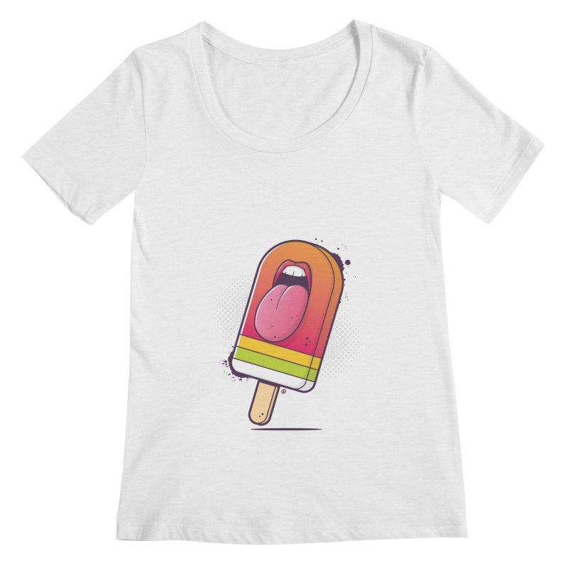 Lick Me Women's Regular Scoop Neck by zoljo's Artist Shop