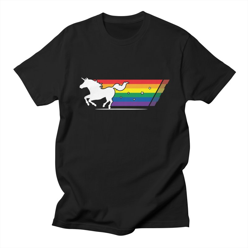 Rainbow Unicorn Gallop Men's Regular T-Shirt by zoljo's Artist Shop