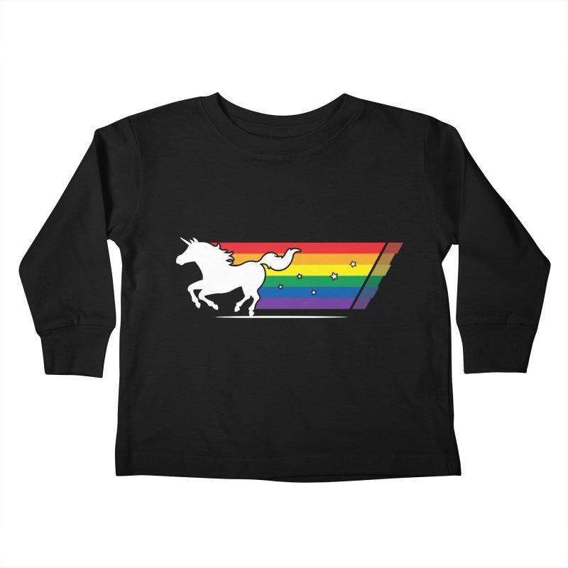 Rainbow Unicorn Gallop Kids Toddler Longsleeve T-Shirt by zoljo's Artist Shop