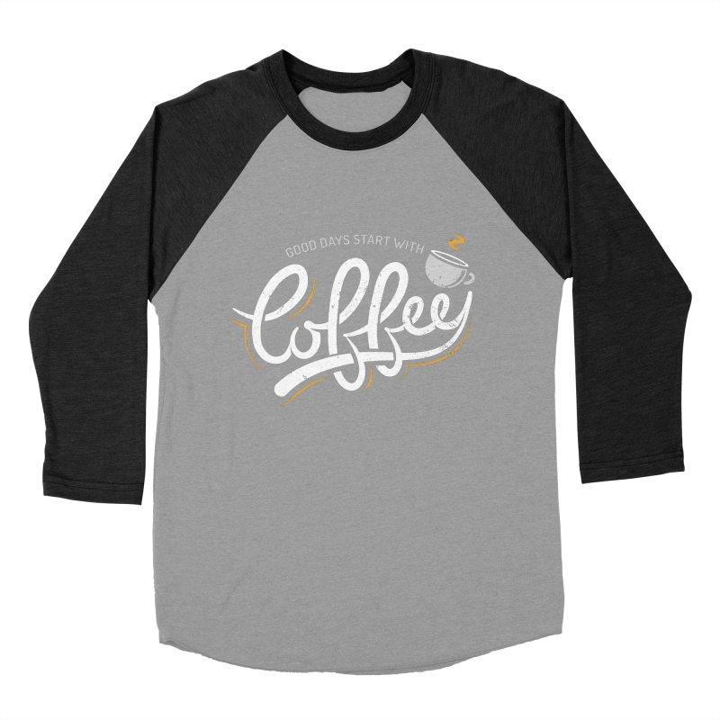 Good Days Start With Coffee Women's Baseball Triblend Longsleeve T-Shirt by zoljo's Artist Shop