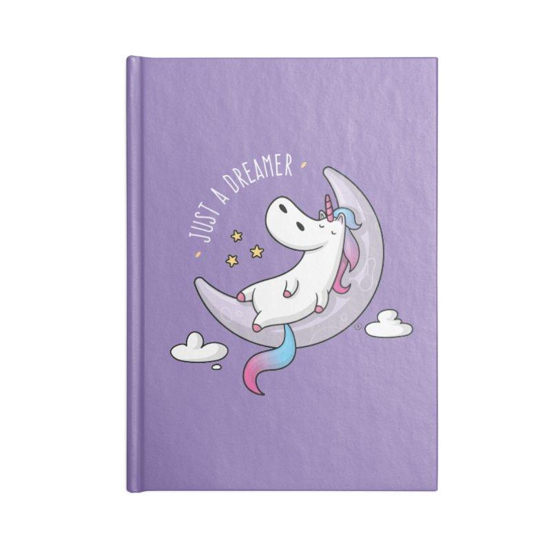 Just a Dreamer - Dreamy Unicorn Accessories Lined Journal Notebook by zoljo's Artist Shop