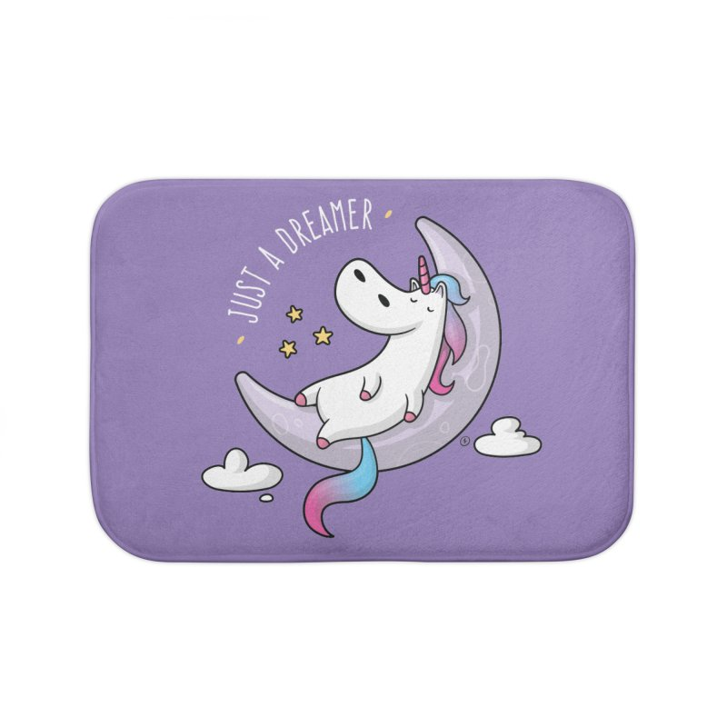 Just a Dreamer - Dreamy Unicorn Home Bath Mat by zoljo's Artist Shop