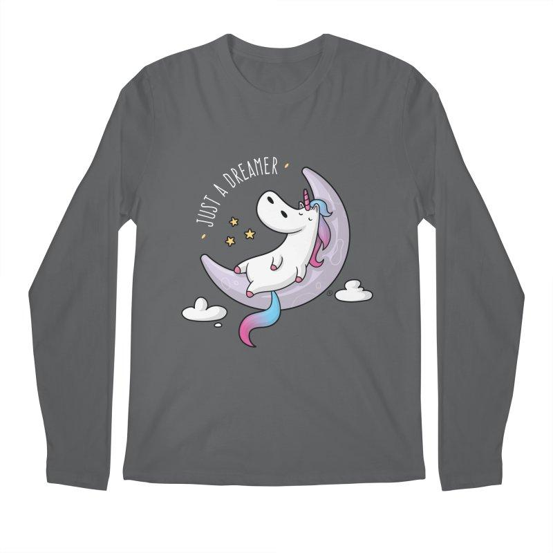 Just a Dreamer - Dreamy Unicorn Men's Regular Longsleeve T-Shirt by zoljo's Artist Shop