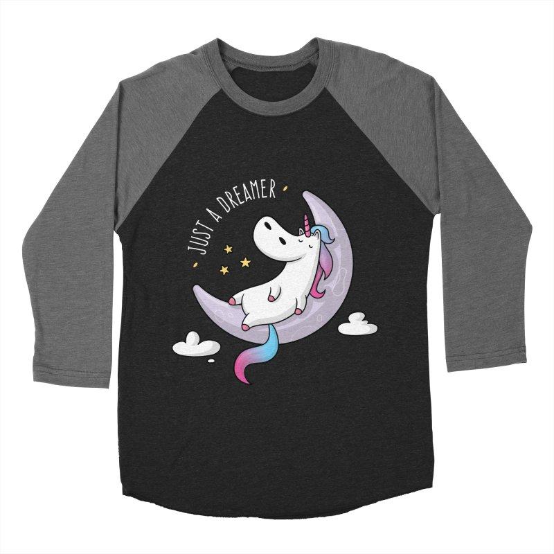 Just a Dreamer - Dreamy Unicorn Women's Baseball Triblend Longsleeve T-Shirt by zoljo's Artist Shop