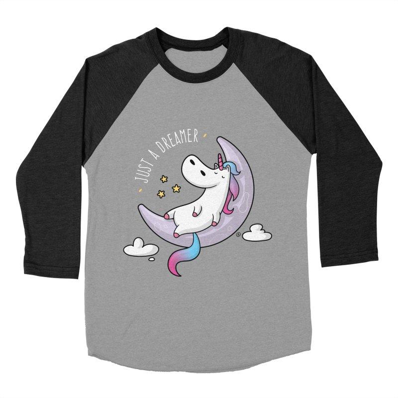 Just a Dreamer - Dreamy Unicorn Men's Baseball Triblend Longsleeve T-Shirt by zoljo's Artist Shop