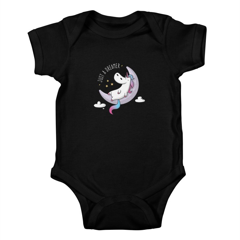 Just a Dreamer - Dreamy Unicorn Kids Baby Bodysuit by zoljo's Artist Shop