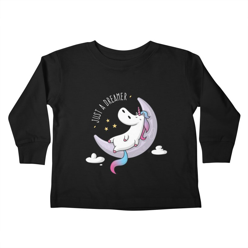 Just a Dreamer - Dreamy Unicorn Kids Toddler Longsleeve T-Shirt by zoljo's Artist Shop