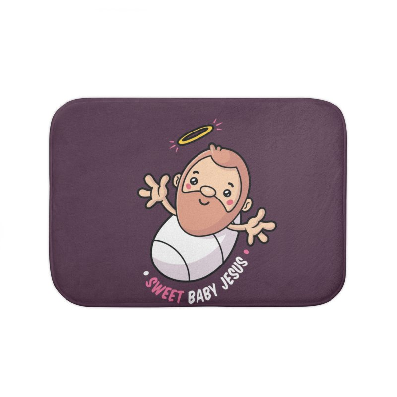 Sweet Baby Jesus Home Bath Mat by zoljo's Artist Shop