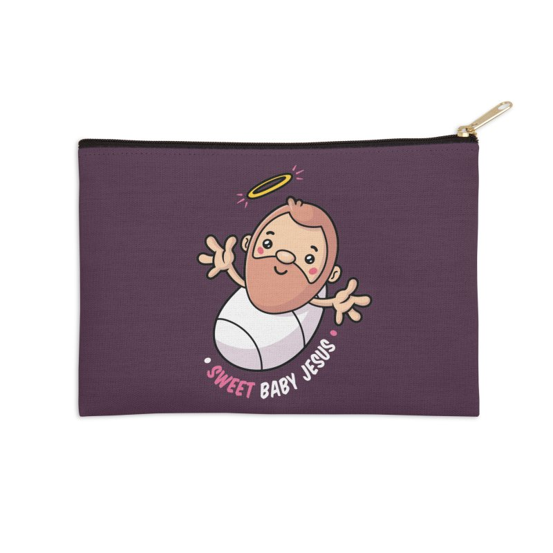 Sweet Baby Jesus Accessories Zip Pouch by zoljo's Artist Shop