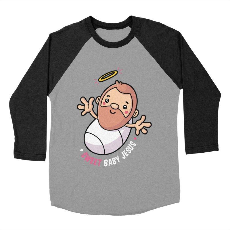 Sweet Baby Jesus Women's Baseball Triblend Longsleeve T-Shirt by zoljo's Artist Shop