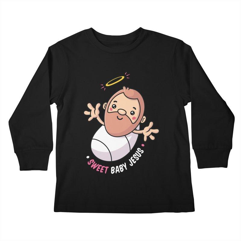 Sweet Baby Jesus Kids Longsleeve T-Shirt by zoljo's Artist Shop