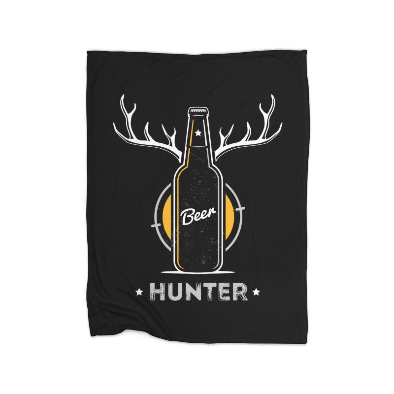 Beer Hunter Home Fleece Blanket Blanket by zoljo's Artist Shop