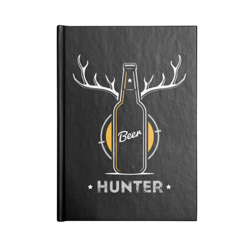 Beer Hunter Accessories Lined Journal Notebook by zoljo's Artist Shop