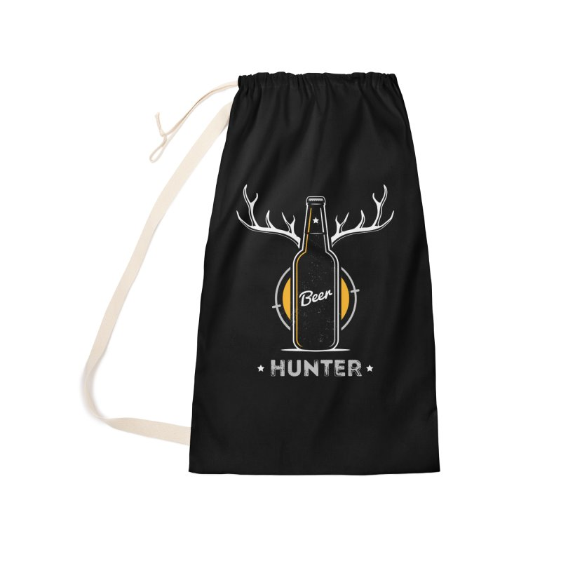 Beer Hunter Accessories Laundry Bag Bag by zoljo's Artist Shop