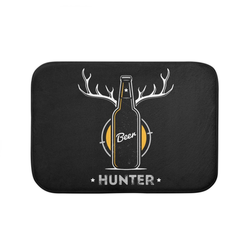 Beer Hunter Home Bath Mat by zoljo's Artist Shop