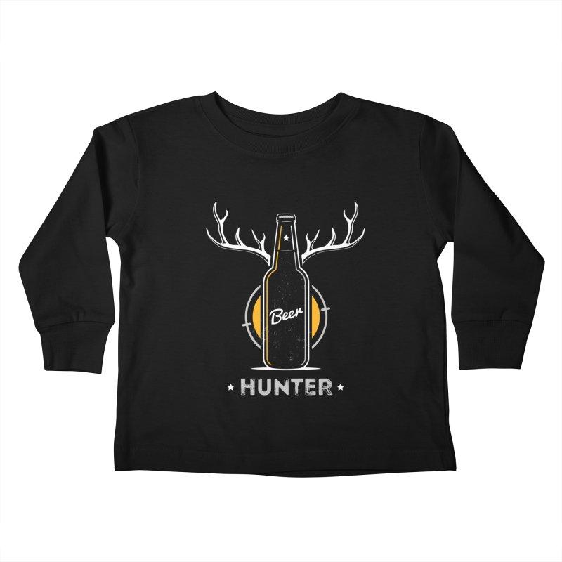 Beer Hunter Kids Toddler Longsleeve T-Shirt by zoljo's Artist Shop