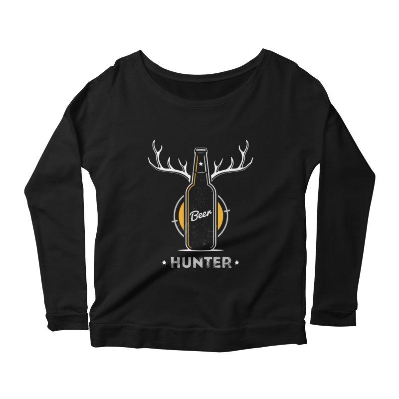 Beer Hunter Women's Scoop Neck Longsleeve T-Shirt by zoljo's Artist Shop