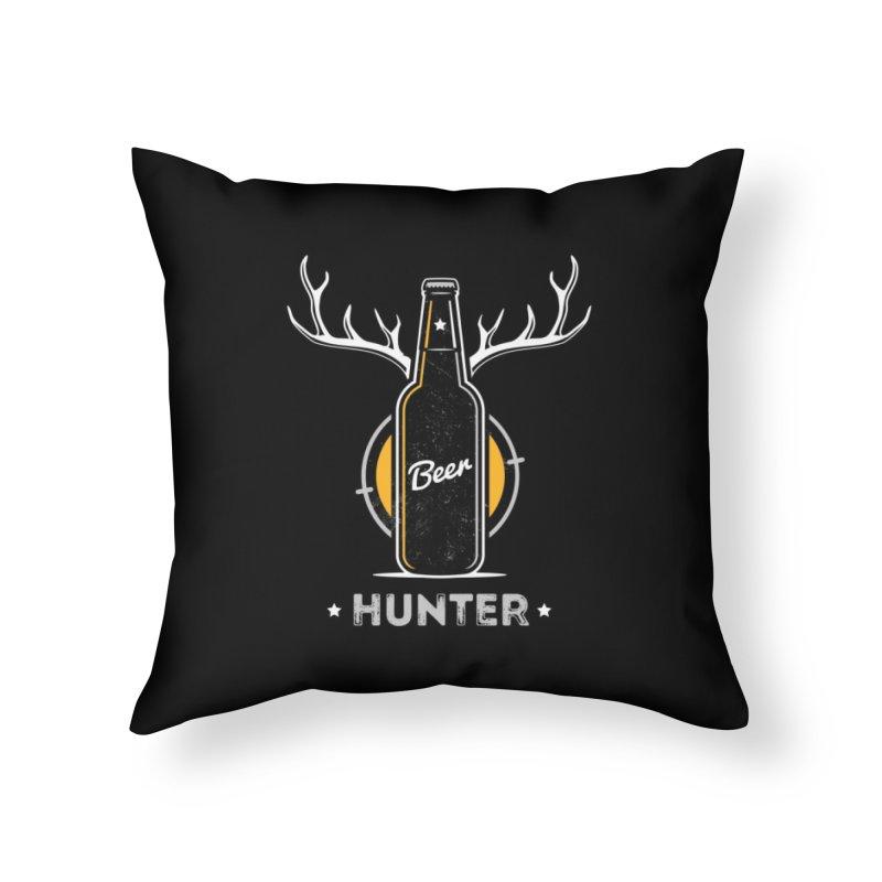 Beer Hunter Home Throw Pillow by zoljo's Artist Shop