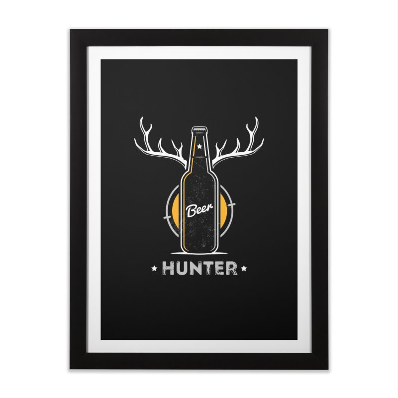 Beer Hunter Home Framed Fine Art Print by zoljo's Artist Shop