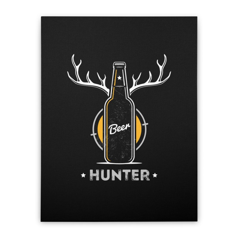 Beer Hunter Home Stretched Canvas by zoljo's Artist Shop
