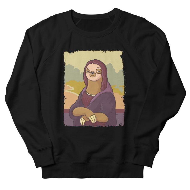 Lazy Lisa Men's French Terry Sweatshirt by zoljo's Artist Shop