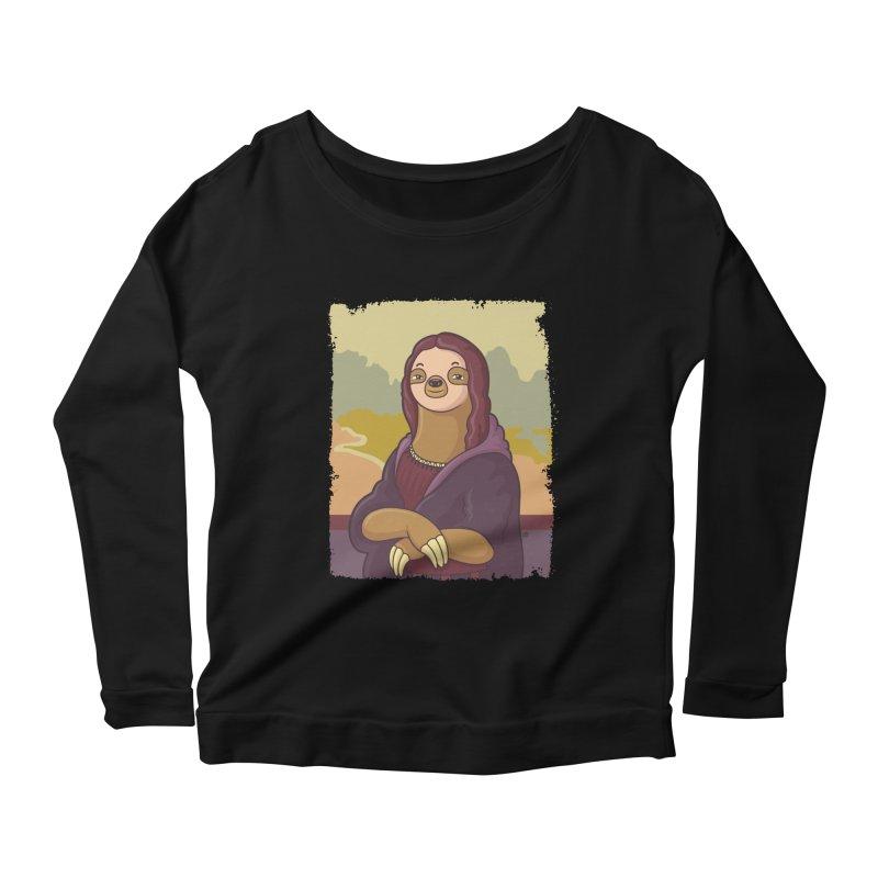 Lazy Lisa Women's Scoop Neck Longsleeve T-Shirt by zoljo's Artist Shop