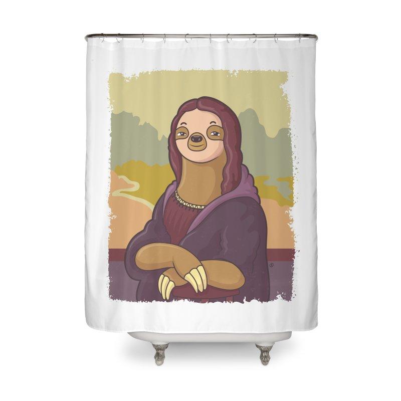 Lazy Lisa Home Shower Curtain by zoljo's Artist Shop