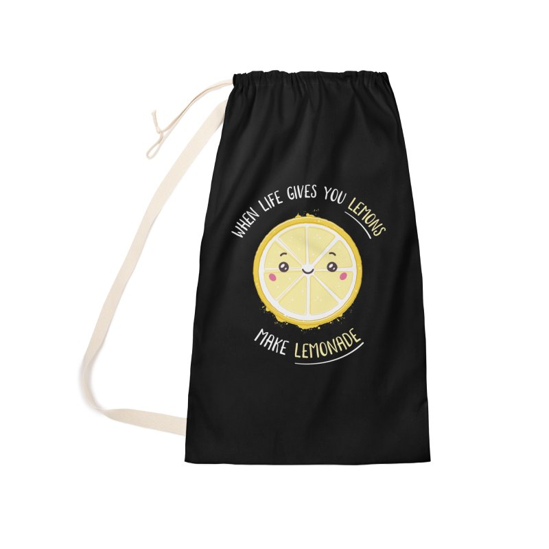 When Life Gives Lemons Make Lemonade Accessories Laundry Bag Bag by zoljo's Artist Shop