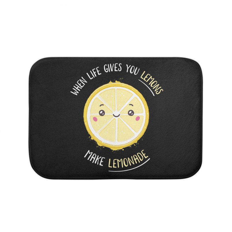 When Life Gives Lemons Make Lemonade Home Bath Mat by zoljo's Artist Shop