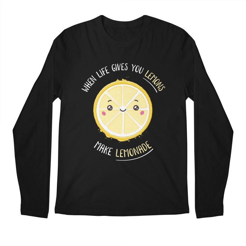 When Life Gives Lemons Make Lemonade Men's Regular Longsleeve T-Shirt by zoljo's Artist Shop