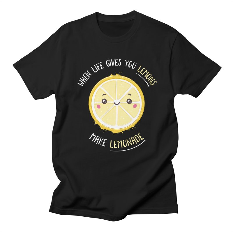 When Life Gives Lemons Make Lemonade Men's Regular T-Shirt by zoljo's Artist Shop