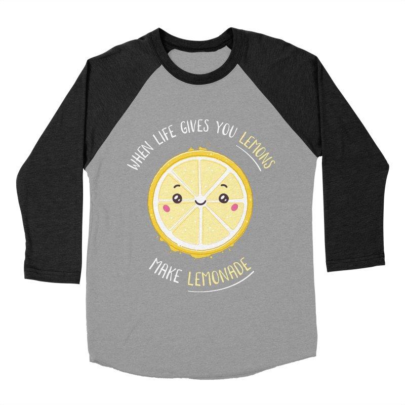 When Life Gives Lemons Make Lemonade Men's Baseball Triblend Longsleeve T-Shirt by zoljo's Artist Shop