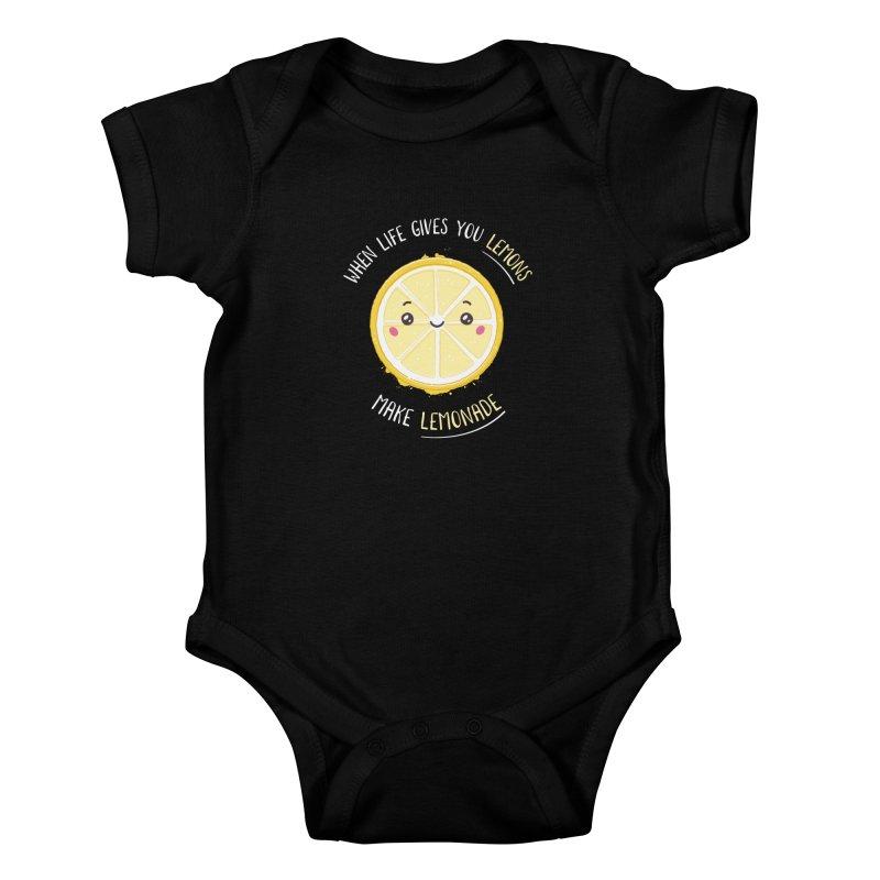 When Life Gives Lemons Make Lemonade Kids Baby Bodysuit by zoljo's Artist Shop