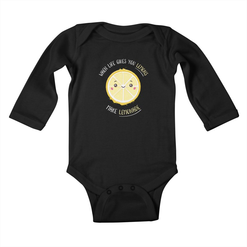 When Life Gives Lemons Make Lemonade Kids Baby Longsleeve Bodysuit by zoljo's Artist Shop